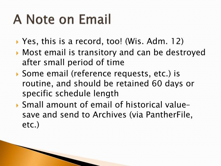 A Note on Email