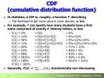 c df cumulative d istribution f unction