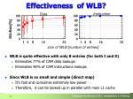 effectiveness of wlb