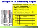 example cdf of residency lengths
