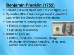 benjamin franklin 1752