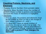 counting protons neutrons and electrons