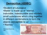 democritus 420bc