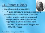 j l proust 1794