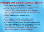 problems with dalton s atomic theory