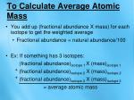 to calculate average atomic mass