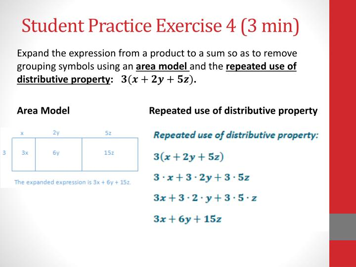 Ppt Use Properties Of Operations To Generate Equivalent Expression
