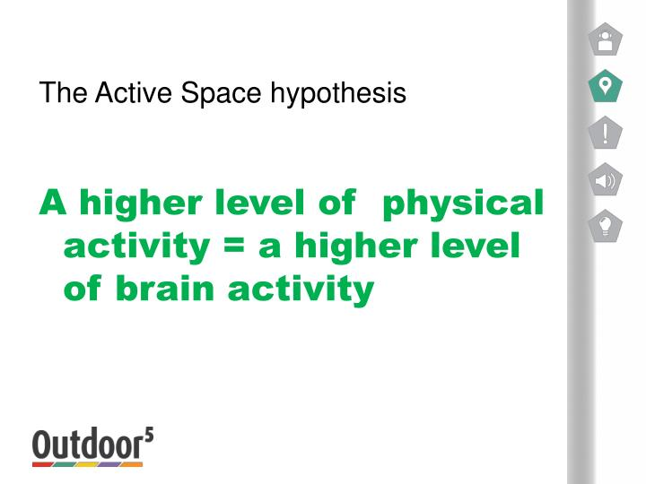 The Active Space hypothesis