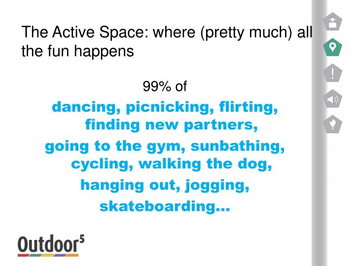 The Active Space: where (pretty much) all the fun happens