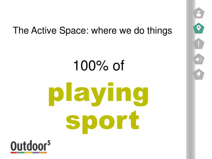 The Active Space: where we do things