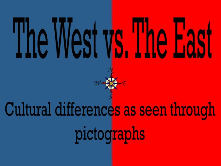 the key cultural differences between the east and the west The key differences between eastern and western christianity with the above definitions and considerations in mind, i offer the following key differences this is certainly not an exhaustive list, and they are all interrelated.