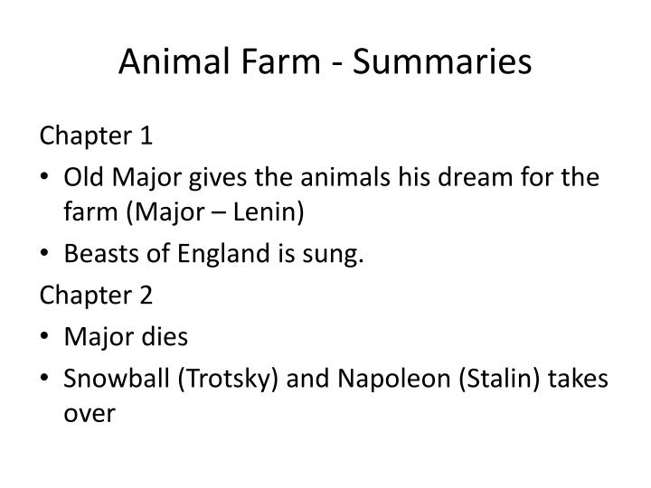 animal farm essay questions Study guide of animal farm by george orwell the main points that you should discuss in answering this essay question are the speech that old major makes.