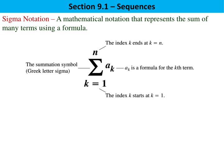 Ppt Sequence A Function Whose Domain Is Positive Integers