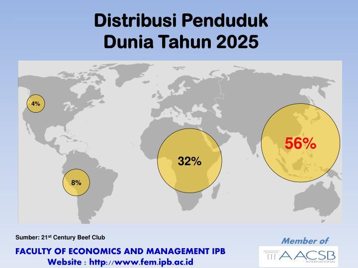 Distribusi Penduduk                        Dunia Tahun