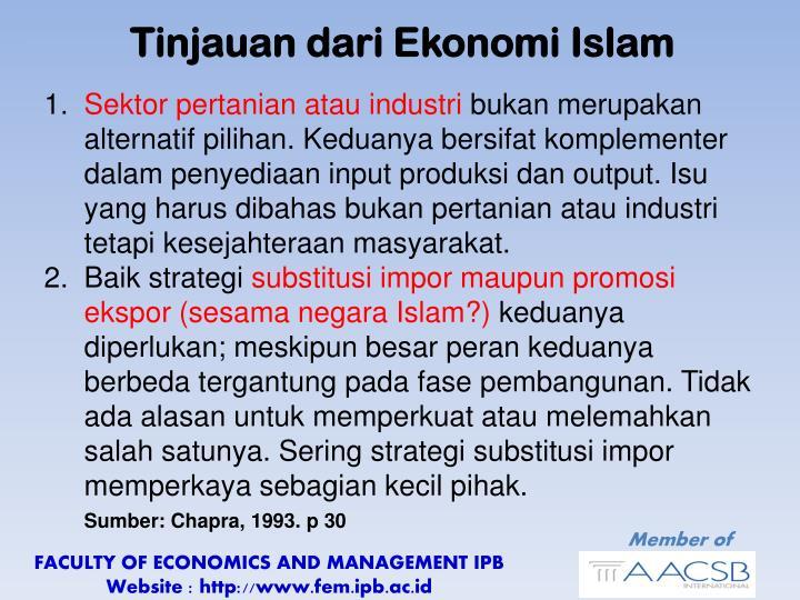 Tinjauan dari Ekonomi