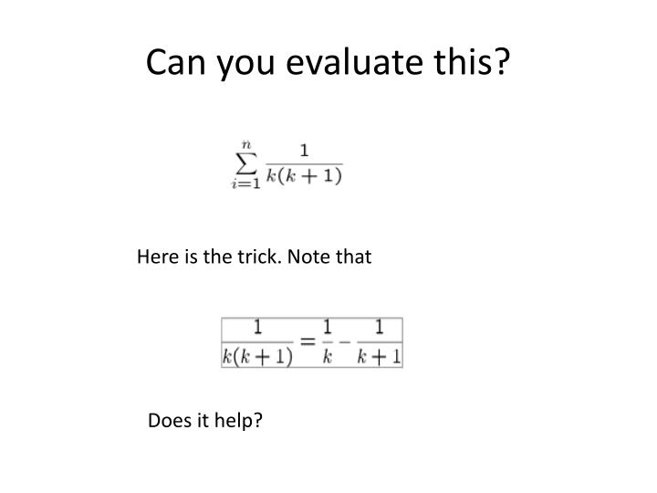 Can you evaluate this?