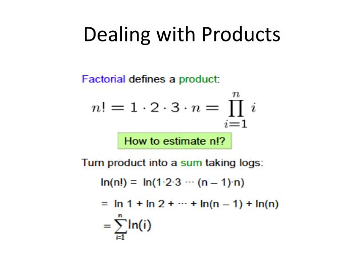 Dealing with Products