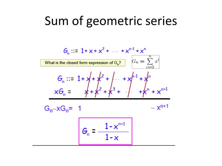 Sum of geometric series