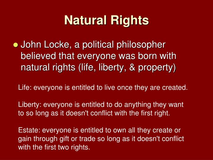 the right to life liberty and property