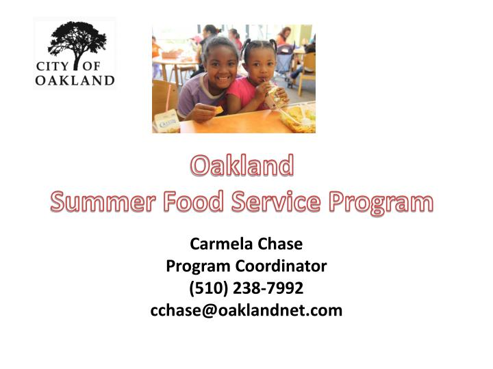 Ppt About Summer Food Service