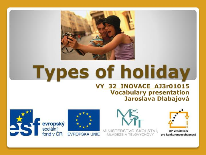types of holiday n.