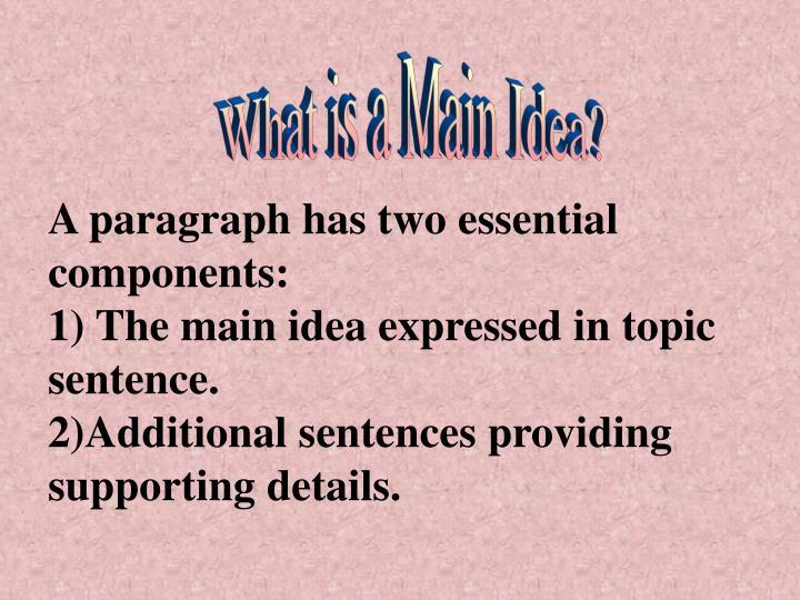 What is a Main Idea?
