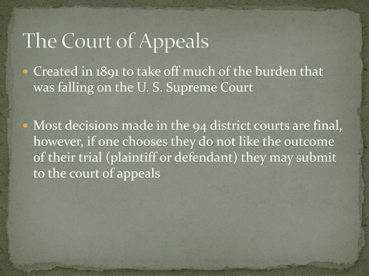 The Court of Appeals