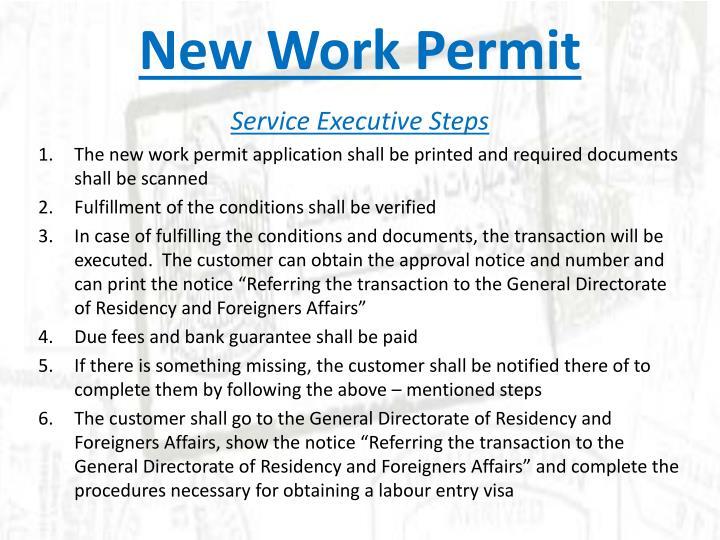 New Work Permit