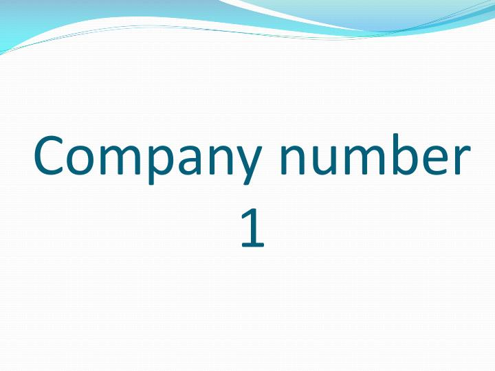 Company number 1