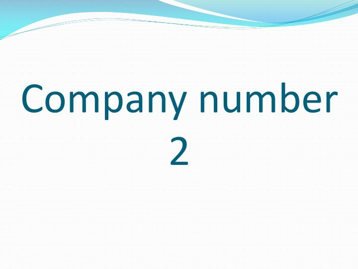 Company number 2