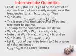 intermediate quantities