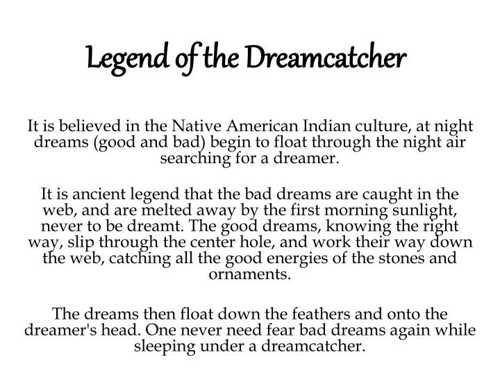 The Story Of Dream Catchers PPT Legend of the Dreamcatcher PowerPoint Presentation ID40 8