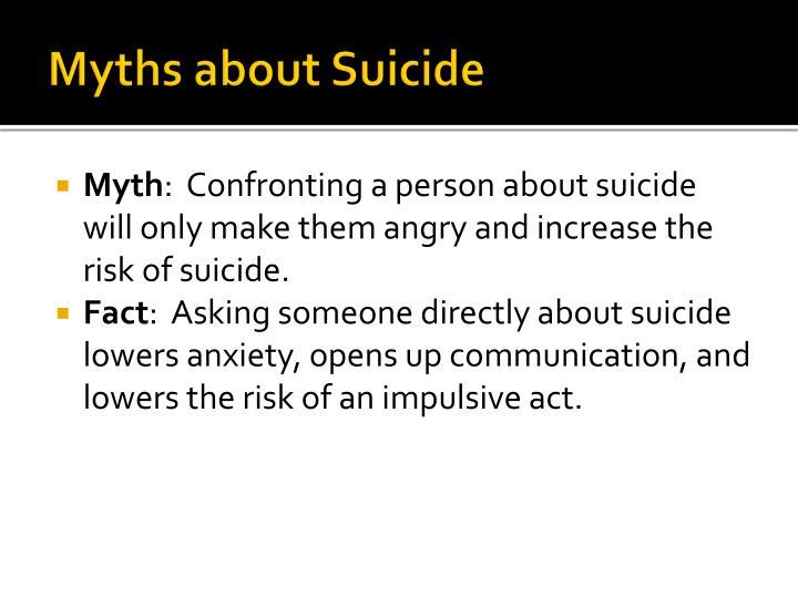 Myths about Suicide