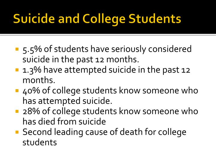 Suicide and College Students