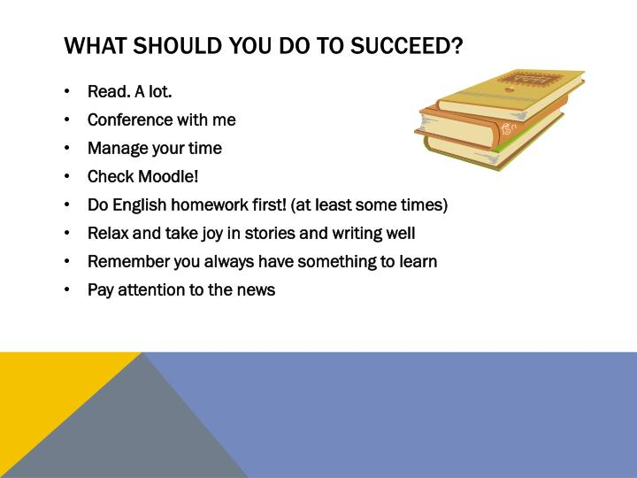 What should you do to succeed?