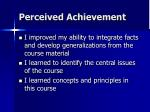 perceived achievement