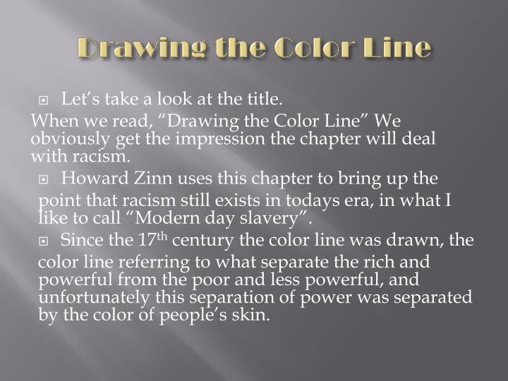 Drawing the color line