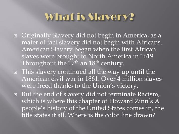 What is slavery