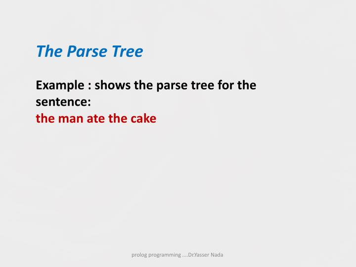 The Parse Tree