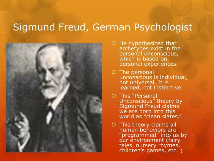 Sigmund freud german psychologist