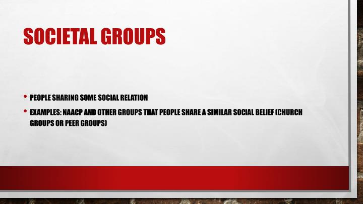 Societal groups