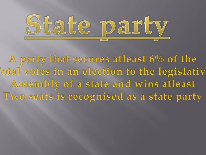 State party