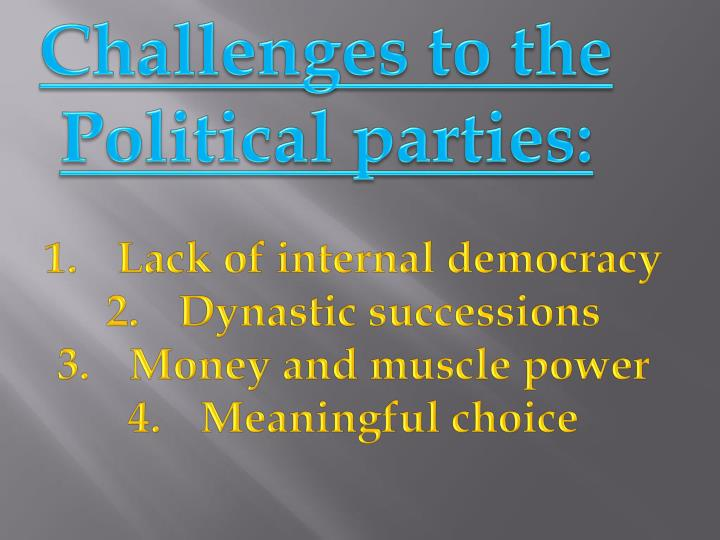 Challenges to the