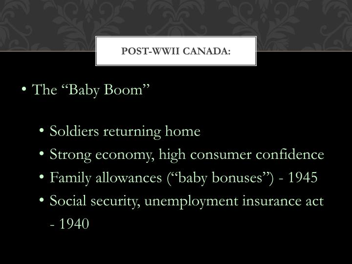 POST-WWII CANADA: