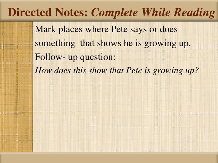 Directed Notes: