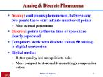 analog discrete phenomena