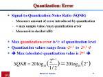 quantization error