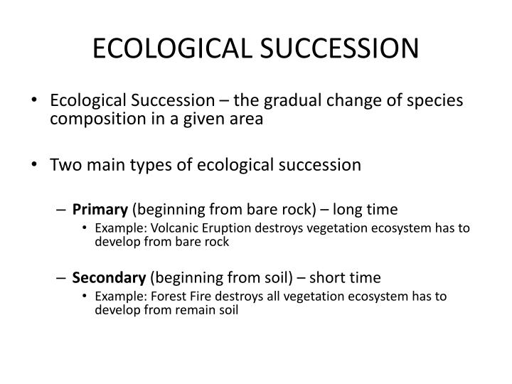 the two main types of an ecosystems succession