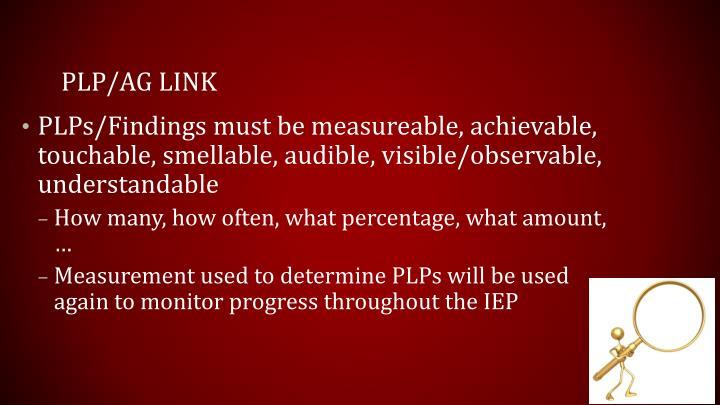 PLP/AG link