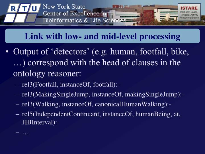 Link with low- and mid-level processing